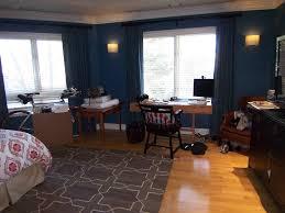 Dark Walls With White Trim Bossy Color Annie Elliott Interior Design - Dark blue bedroom