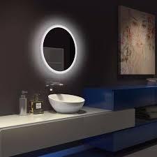 acb petra 64cm led ip44 round bathroom