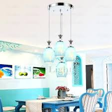 blue glass pendant croft collection selsey glass ceiling pendant light blue