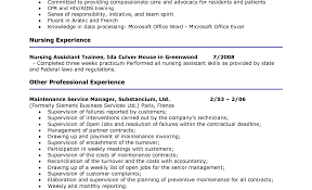 Nursing Assistant Resume Sample Download Cna Resume Skills