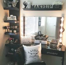 black white makeup station