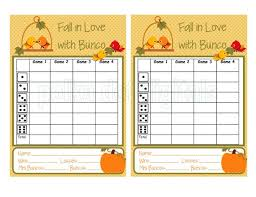 Bunco Score Sheets Template Awesome Buy 48 Get 48 Free Complete Set FALL In LOVE With Bunco Score Etsy