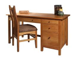 cherry custom home office desk. Custom Home Office Craftsman Desk With Artisan Chair In Natural Cherry D
