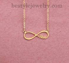 infinity nameplate pendant personalized gifts promise necklace name necklace gifts 18k gold plated