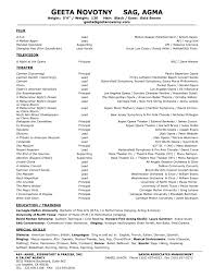 Film Resume Template Enchanting Theatre Resume Template 48 Sample Of Acting 48 Film Actor Format 48