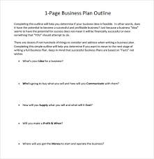 simple one page business plan template free 10 one page business plan samples in ms word pages pdf