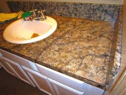 image of diy painted granite countertops
