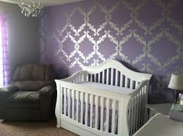 Silver And Purple Bedroom Purple Metallic Silver And White Baby Girls Nursery Baby Girl