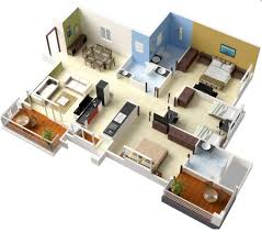 50 three 3 bedroom apartment house plans architecture design