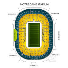Notre Dame Stadium Detailed Seating Chart Precise Notre Dame Football Stadium Seating Chart Notre Dame