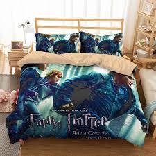 marvellous design harry potter duvet cover 3d customize bedding set bedroom bedlinen enchanted night sky