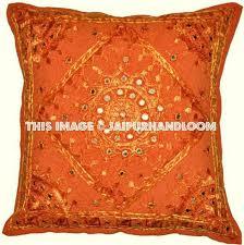 ethnic floor cushions. Interesting Ethnic Orange Decorative Throw Pillow Ethnic Indian Floor Bohemian  Cushion With Cushions C