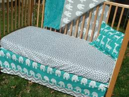 turquoise gray baby bedding custom crib bedding set the theme teal and c bedding