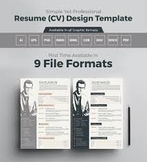 Simple Yet Professional Resume Cv Design Templates In Ai Eps Psd