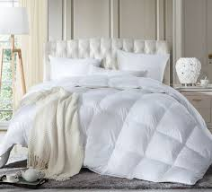 luxurious full queen size siberian goose down comforter duvet insert 1200 thread count 100 egyptian cotton 750 fill power 60 oz fill weight 1200tc