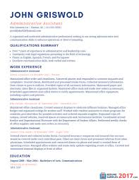 Administrative Resume Samples Resume Sample For An Administrative
