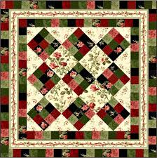 Free Downloadable Quilt Patterns & Rosey Ribbons Quilt Pattern by Maywood Studio.