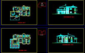 Autocad Kitchen Design New ▷ Villa Plans 48d In AutoCAD Download CAD Free 4848 KB