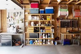 Tidy And Neat Garage Cabinet Build In On Wall With Bicycle On It