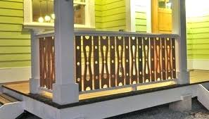 wood deck railing ideas. Of Deck Railing Ideas And Designs Jigsaw Cut Circle Baluster Porch Wood
