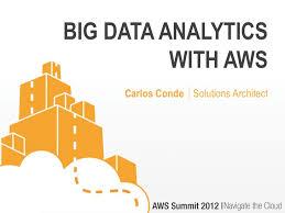 big data analytics on aws carlos conde aws summit paris big data analytics aws carlos conde │solutions