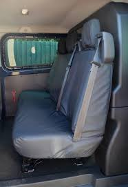 van dciv rear black tailored seat cover