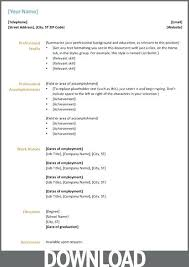 Cv Templates Word 2007 Word 2007 Resume Template Wastern Info