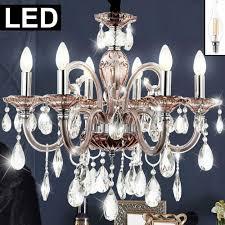 Led Chrom Wohnzimmer Lampe Pendel Decken Kristall Filament