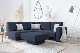 Ein kleines ecksofa von sofanella für gemütliche wohnzimmer. Choice 16 Velare Kleines Ecksofa Moderne Farben Doppelbett Schlaffunktion Und Stauraum Feydom Modulsofa