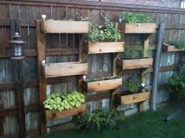reclaimed crates turned vertical planter source conservation garden park