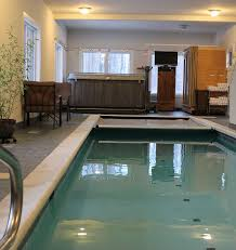indoor pool and hot tub. View Larger Image. ; . Indoor Swimming Pool And Seasonal Hot Tub