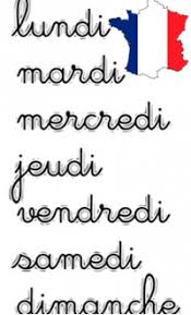 French Days Of The Week The Days Of The Week In French