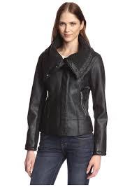 sam edelman women s amy faux leather aviator moto jacket l