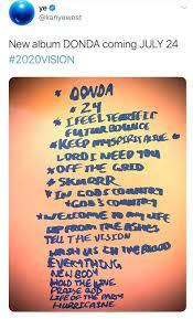 Kanye West Shares 'DONDA' Release Date ...