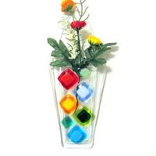 wall mounted vase wall flower vase wall mounted vases wall flower vases get ations a past wall fused glass wall hung glass vase