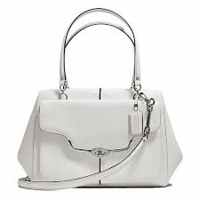 Coach Madison Large Madeline East West Satchel In Textured Leather 25246