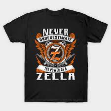 Zella Never Underestimate Personalized Name Gift