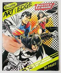 Whether you print these superman pages to color on planet krypton, to take a break during a hard day's work at the daily planet, or just to have some fun with your little. Justice League Crayola Art With Edge 30 Pages Coloring Book For Sale Online Ebay