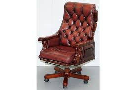 pine office chair. Huge Over Sized Chesterfield Oxblood Leather Captains Office Chair Pine Frame Photo 1 A