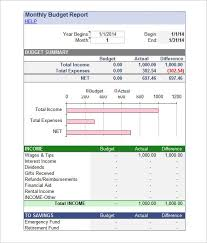 Simple Report Template Simple Monthly Budget Report Template Basic Budget Template How