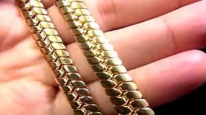 King Ice 14K Gold Curved Herringbone Chain | Urban Jewelry | Kingice.com