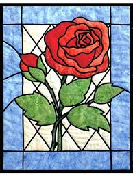 stained glass rose stained glass rose quilt pattern beauty and the beast stained glass rose tattoo