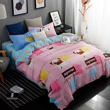 whole new printed cute pug bedding sets bed sheet quilt duvet sheets