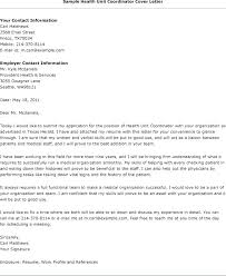 Activities Coordinator Cover Letter Safety Coordinator Cover Letter