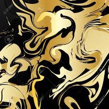 Marmerpatroon Retro Grafisch Kerst Illustratie Gouden Design