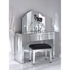 Silver Mirrors For Bedroom Adorable Decorating Ideas Using Rectangular Brown Wooden Vanity