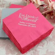 best Paper Napkins for the Wedding Reception Personalized     The Wedding Outlet Cocktail Napkins  Personalized Cocktail NapkinsWedding