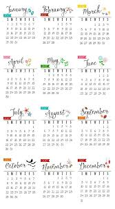 free printable 2017 calendar clean and scentsible