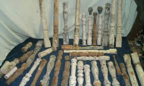 old wooden table legs