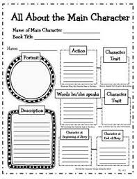 character ysis 4th grade reading literature graphic organizers for mon core this could easily be adapted for a couple age groups